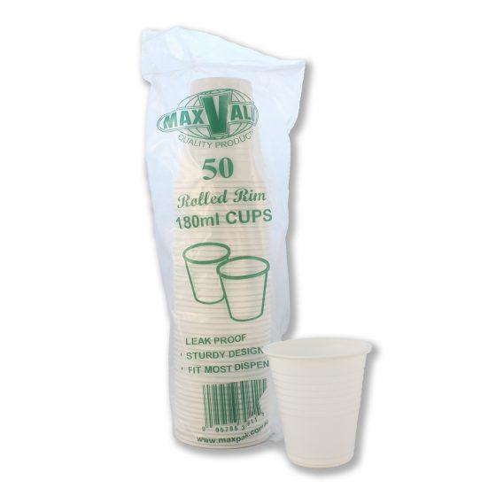 White 190ml Cups