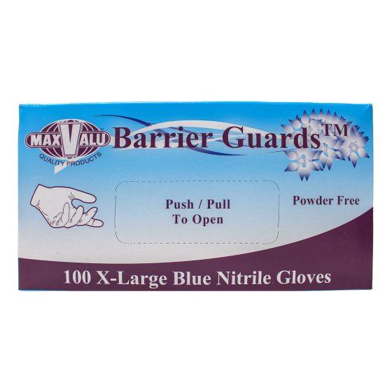 Extra Large Blue Nitrile Gloves