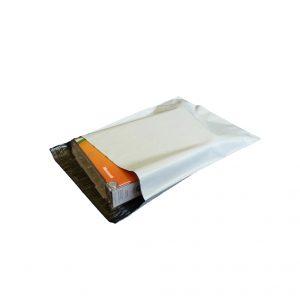 White Courier Satchel 25 x 17 cm