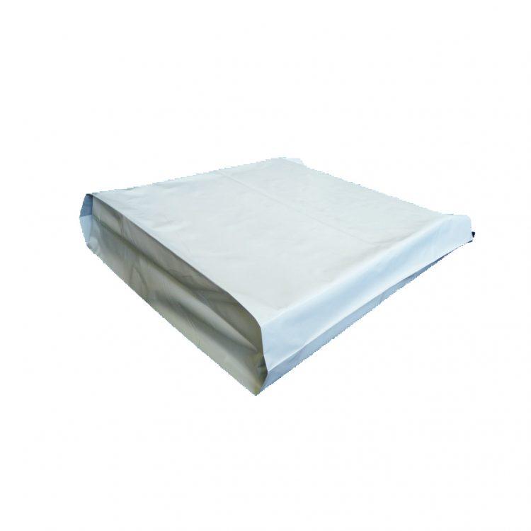 White Courier Satchel 52 x 51 + 12cm Gusset