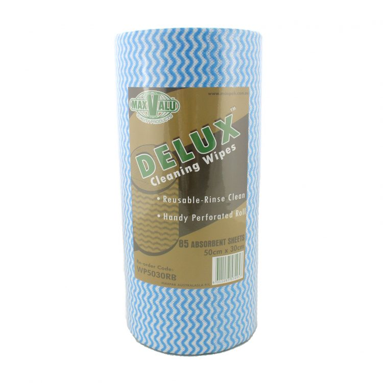 Delux Cleaning Wipes - Blue Roll