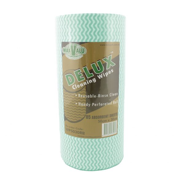 Delux Cleaning Wipes - Green Roll