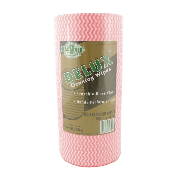 Delux Cleaning Wipes - Red Roll