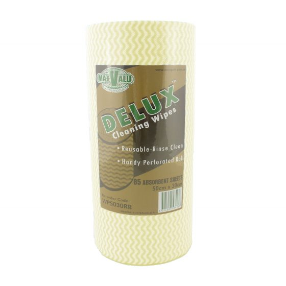 Delux Cleaning Wipes - Yellow Roll