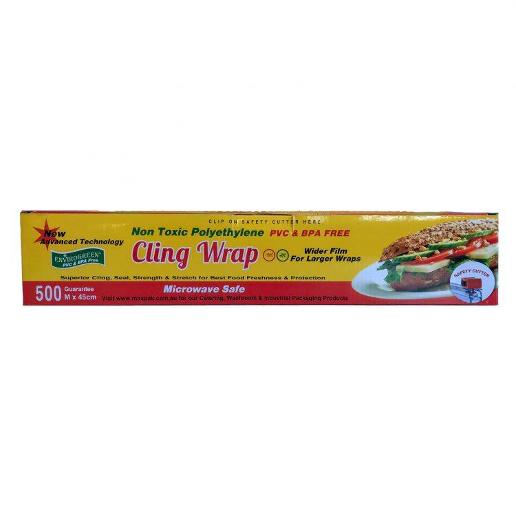 PVC & BPA FREE Cling Wrap 45cm x 500m
