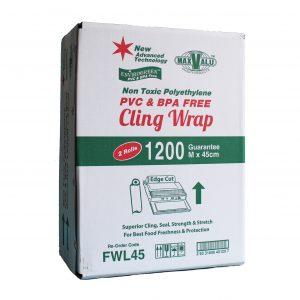 PVC & BPA FREE Cling Wrap 45cm x 1200m