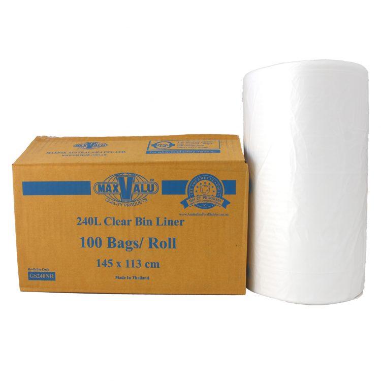 Clear Bin Liners - 240L Roll