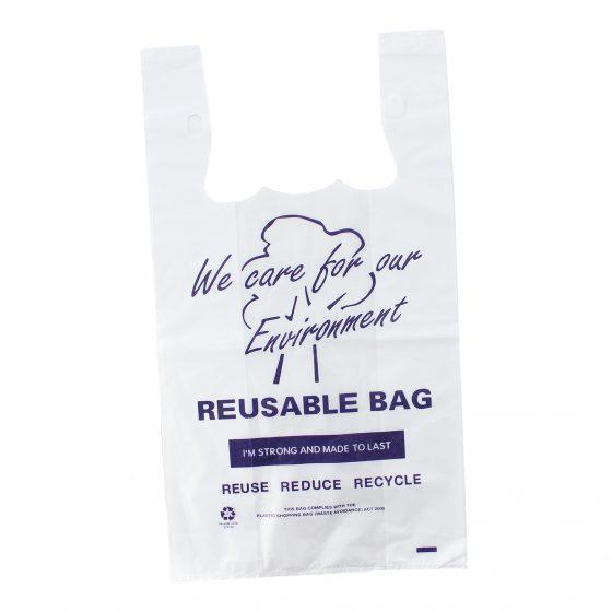Large Printed Reusable Singlet Bag