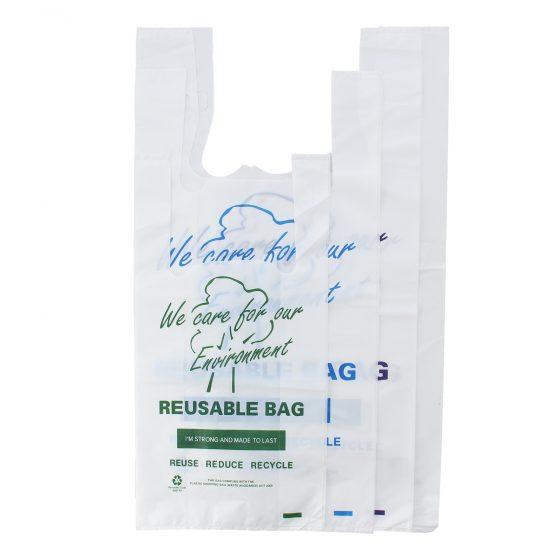Printed Reusable Singlet Bags